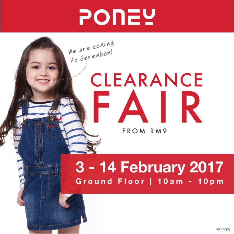 PONEY's Clearance Fair