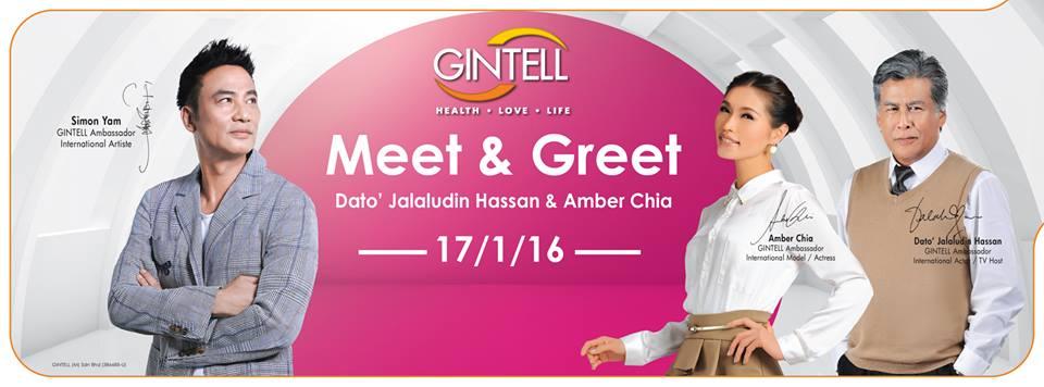 Gintell Meet & Greet Dato' Jalaludin & Amber Chia